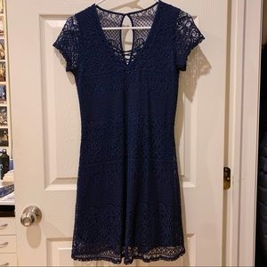 Blue laced dress from Hollister - brand new!